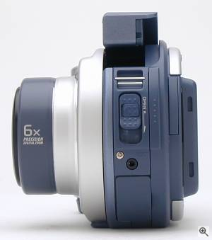 Sony's MVC-CD200 digital camera, left view. Copyright  (c) 2001, The Imaging Resource. All rights reserved. Click for a bigger picture!