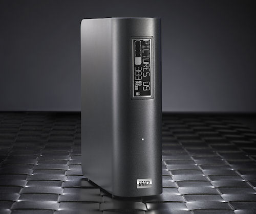 WD's My Book Elite external hard drive with E-Label display. Photo provided by Western Digital Corp. Click for a bigger picture!