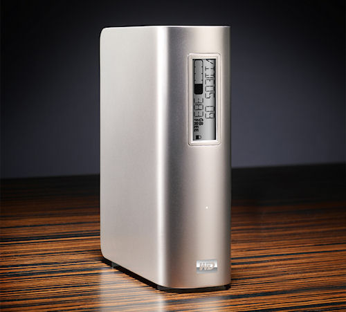 WD's My Book Studio external hard drive with E-Label display. Photo provided by Western Digital Corp. Click for a bigger picture!