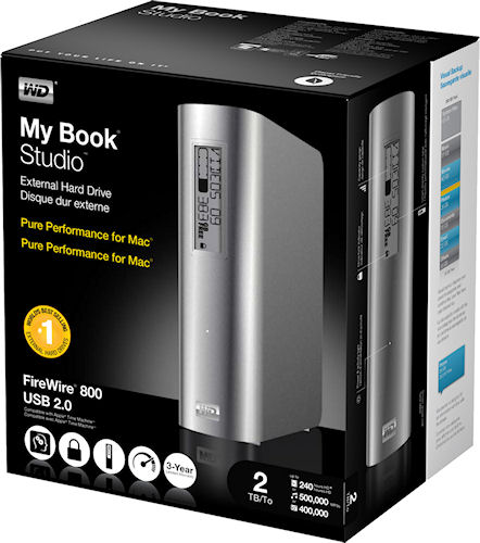 WD's My Book Studio product packaging, two terabyte version. Photo provided by Western Digital Corp. Click for a bigger picture!