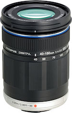 Olympus' M.ZUIKO DIGITAL ED 40-150mm f4.0-5.6 lens. Photo provided by Olympus Imaging America Inc. Click for a bigger picture!