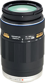 Olympus' M.ZUIKO DIGITAL ED 75-300mm f4.8-6.7 lens. Photo provided by Olympus Imaging America Inc. Click for a bigger picture!