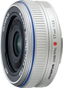 Olympus' M. ZUIKO Digital 17mm f2.8 lens. Photo provided by Olympus Imaging America Inc. Click for a bigger picture!