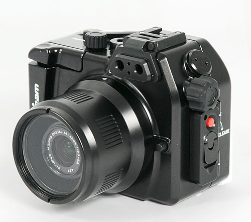 Nauticam's NA-EPL2 underwater housing for the Olympus E-PL2 compact system camera. Photo provided by Nauticam USA. Click for a bigger picture!