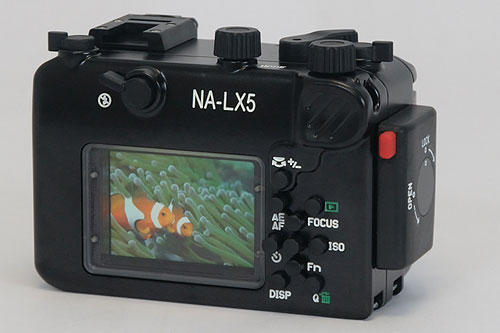 Nauticam's NA-LX5 underwater housing. Photo provided by Nauticam USA. Click for a bigger picture!