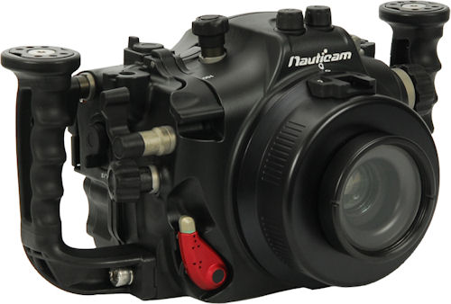 Nauticam's NA-550D underwater housing for Canon's EOS Rebel T2i / 550D digital SLR. Photo provided by Nauticam International Ltd. Click for a bigger picture!