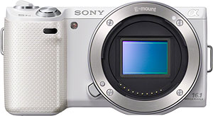 Sony's NEX-5N compact system camera. Image provided by Sony Electronics Inc. Click for a bigger picture!