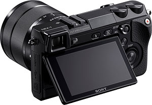 Sony's NEX-7 compact system camera. Image provided by Sony Electronics Inc. Click for a bigger picture!