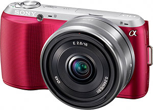 Sony's Alpha NEX-C3 compact system camera. Photo provided by Sony Electronics Inc. Click for a bigger picture!