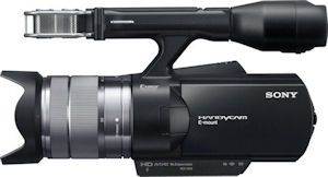 Sony's NEX-VG10 interchangeable lens camcorder. Photo provided by Sony Electronics Inc. Click for a bigger picture!