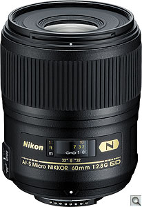 Nikon Micro NIKKOR 60mm f/2.8G ED lens. Courtesy of Nikon, with modifications by Zig Weidelich. Click for a bigger picture!