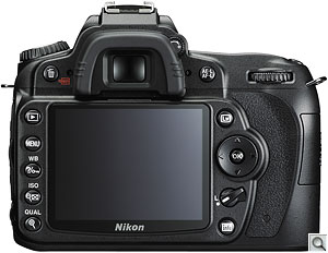 Nikon D90 digital SLR. Courtesy of Nikon, with modifications by Zig Weidelich. Click for a bigger picture!