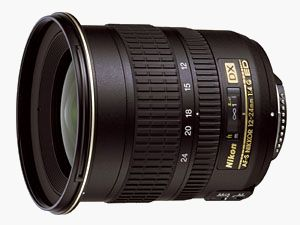 Nikon's DX Nikkor 12-24mm f/4G lens. Courtesy of Nikon Europe, with modifications by Michael R. Tomkins.