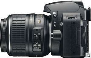 Nikon's D60 digital SLR. Courtesy of Nikon. Click for a bigger picture!