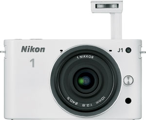The Nikon J1 compact system camera with 30-110mm f/3.8-5.6 VR lens. Photo provided by Nikon Inc. Click for a bigger picture!