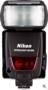 Nikon's Speedlight SB-800 flash. Courtesy of Nikon, with modifications by Michael R. Tomkins. Click for a bigger picture!