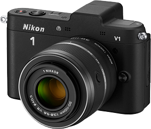 The Nikon V1 compact system camera with 30-110mm f/3.8-5.6 VR lens. Photo provided by Nikon Inc. Click for a bigger picture!