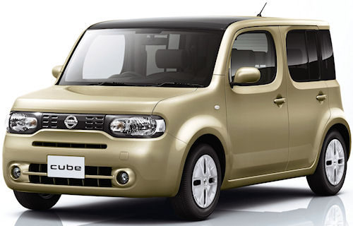 Nissan's Cube mini MPV, similar (but not necessarily identical) to that offered in the 2010 Wedding & Portrait Photographers International sweepstakes. Photo provided by Nissan Motor Co. Ltd. Click for a bigger picture!