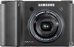Samsung's NV24 HD digital camera. Courtesy of Samsung, with modifications by Michael R. Tomkins. Click for a bigger picture!