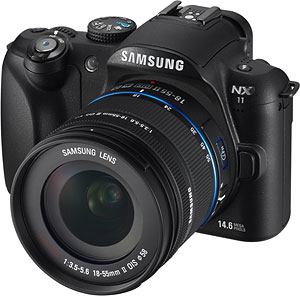 Samsung's NX11 digital camera. Photo provided by Samsung Electronics Co. Ltd. Click for a bigger picture!