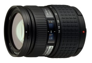 Olympus' E System 14-54mm lens. Courtesy of Olympus, with modifications by Michael R. Tomkins. Click for a bigger picture!