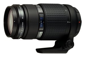 Olympus' E System 50-200mm lens. Courtesy of Olympus, with modifications by Michael R. Tomkins. Click for a bigger picture!