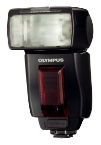 Olympus' E System flash. Courtesy of Olympus, with modifications by Michael R. Tomkins. Click for a bigger picture!