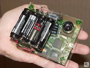 OmniVision's 1.3 megapixel digital camera reference design, front view. All rights reserved. Click for a bigger picture!