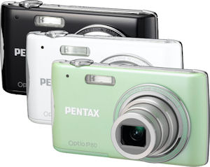 Pentax's Optio P80 digital camera. Photo provided by Pentax Imaging Co. Click for a bigger picture!