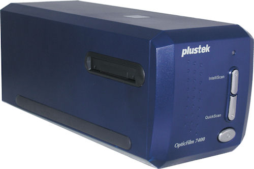 Plustek's OpticFilm 7400 film scanner. Photo provided by Plustek Inc. Click for a bigger picture!