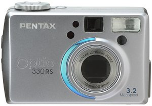 Pentax's Optio 330RS digital camera. Courtesy of Pentax Netherlands, with modifications by Michael R. Tomkins. Thanks to LetsGoDigital.nl for providing us with this image!
