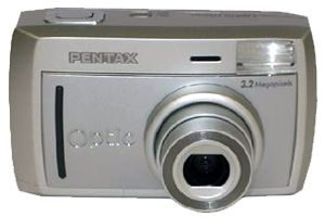 Pentax's Optio 33L digital camera. Courtesy of Pentax, with modifications by Michael R. Tomkins.