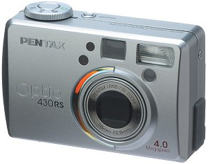 Pentax's Optio 430RS digital camera. Courtesy of Pentax Netherlands, with modifications by Michael R. Tomkins. Thanks to LetsGoDigital.nl for providing us with this image!