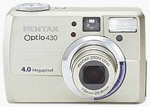 Pentax's Optio 430 digital camera. Courtesy of Pentax.