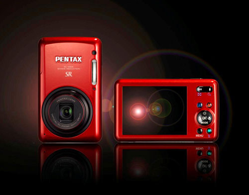 Pentax's Optio S1 digital camera is now available in incandescent red in the European market. Photo provided by Pentax Europe Imaging Systems Ltd.