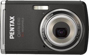 Pentax's Optio M60 digital camera. Courtesy of Pentax, with modifications by Michael R. Tomkins. Click for a bigger picture!