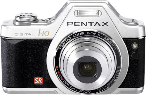 Pentax's Optio I-10 Classic Silver. Photo provided by Hoya Corp. Click for a bigger picture!