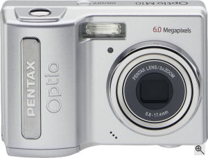 Pentax's Optio M10 digital camera. Courtesy of Pentax, with modifications by Michael R. Tomkins. Click for a bigger picture!