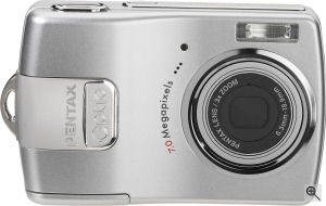Pentax's Optio <20 digital camera. Courtesy of Pentax, with modifications by Michael R. Tomkins. Click for a bigger picture!