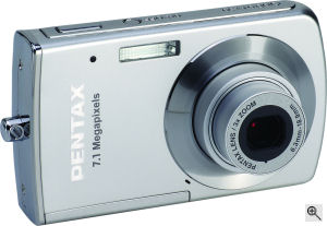 Pentax's Optio M30 digital camera. Courtesy of Pentax, with modifications by Michael R. Tomkins. Click for a bigger picture!