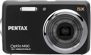 Pentax's Optio M90 digital camera. Photo provided by Pentax Europe Imaging Systems Ltd. Click for a bigger picture!