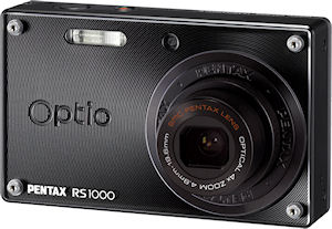 Pentax's Optio RS1000 digital camera. Photo provided by Pentax Imaging Co. Click for a bigger picture!
