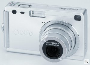 Pentax's Optio S4i digital camera. Courtesy of Eastman Kodak Co., with modifications by Michael R. Tomkins. Click for a bigger picture!