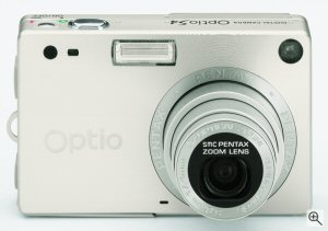 Pentax's Optio S4 digital camera. Courtesy of Pentax, with modifications by Michael R. Tomkins. Click for a bigger picture!