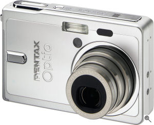 Pentax's Optio S6 digital camera. Courtesy of Pentax, with modifications by Michael R. Tomkins. Click for a bigger picture!