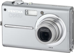 Pentax's Optio T20 digital camera. Courtesy of Pentax, with modifications by Michael R. Tomkins. Click for a bigger picture!
