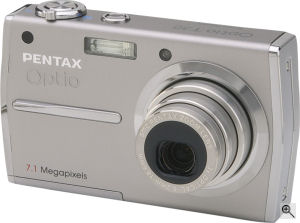Pentax's Optio T30 digital camera. Courtesy of Pentax, with modifications by Michael R. Tomkins. Click for a bigger picture!