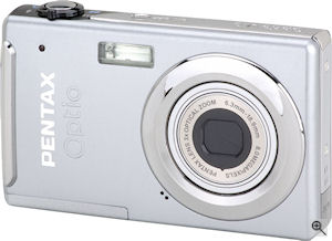 Pentax's Optio V10 digital camera. Courtesy of Pentax, with modifications by Michael R. Tomkins. Click for a bigger picture!