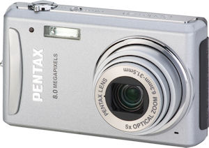 Pentax's Optio V20 digital camera. Courtesy of Pentax, with modifications by Michael R. Tomkins. Click for a bigger picture!