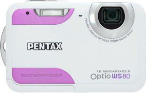 Pentax's Optio WS80 digital camera. Photo provided by Pentax Imaging Co. Click for a bigger picture!